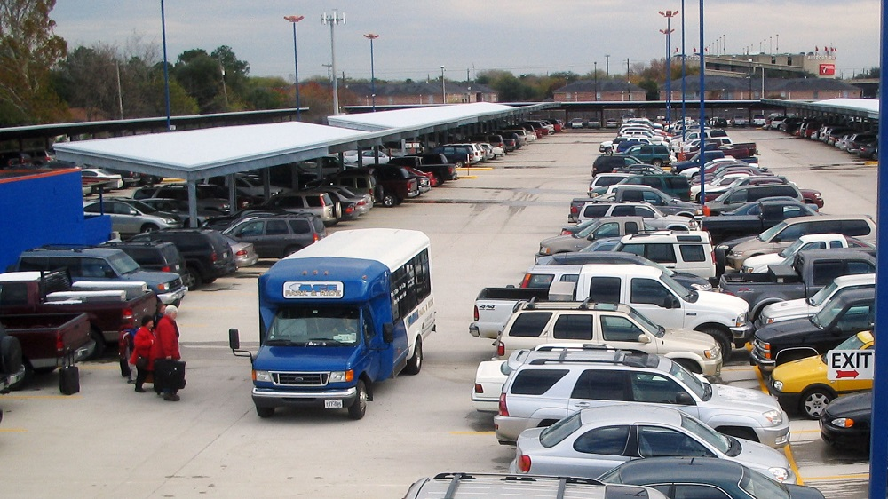 Parking at Hobby Airport in Houston.